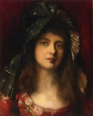 Reproduction oil paintings - Albert Lynch - The Green Bonnet