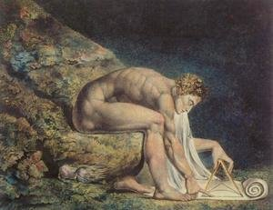 Reproduction oil paintings - William Blake - Newton