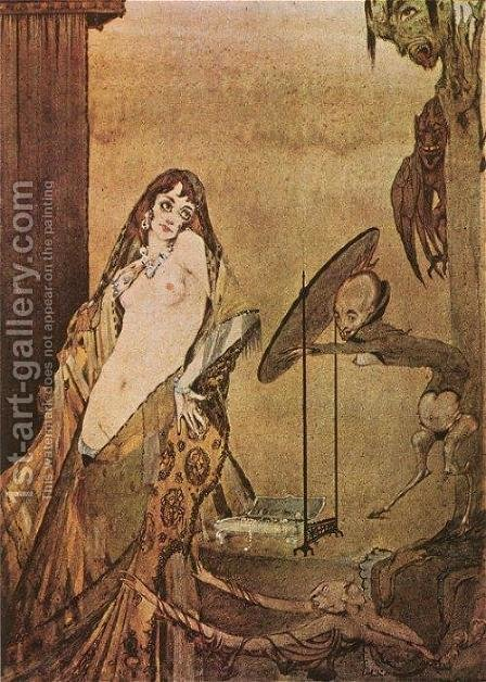 Drest thus, I seem a different creature! by Harry Clarke - Reproduction Oil Painting