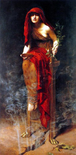John Maler Collier reproductions - Priestess of Delphi