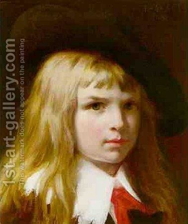 Pierre Auguste Cot: Little Lord Fauntleroy - reproduction oil painting