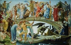 Reproduction oil paintings - Walter Crane - The Bridge of Life