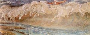 Reproduction oil paintings - Walter Crane - The Horses of Neptune