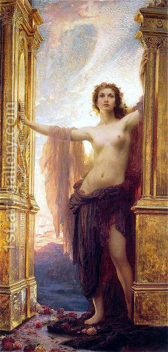 The Gates of Dawn by Herbert James Draper - Reproduction Oil Painting
