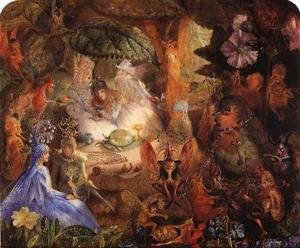 Famous paintings of Fairies: The Captive Robin