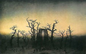 Reproduction oil paintings - Caspar David Friedrich - Abbey in the Oakwood