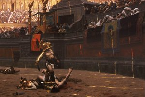 Reproduction oil paintings - Jean-Léon Gérôme - Gladiators