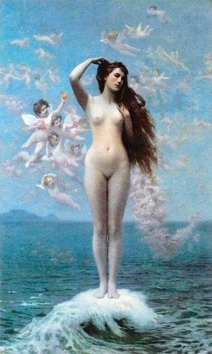 Famous paintings of Fantasy, Mythology, Sci-Fi: Venus Rising