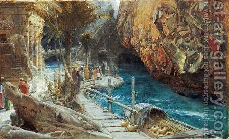 The Source of the Sacred River by Albert Goodwin - Reproduction Oil Painting