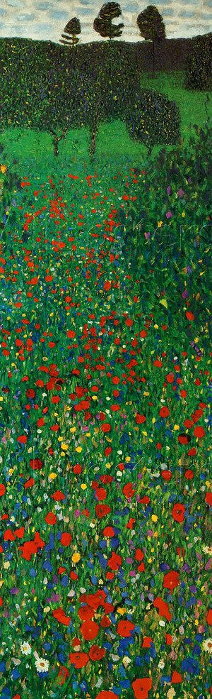Reproduction oil paintings - Gustav Klimt - A Field of Poppies
