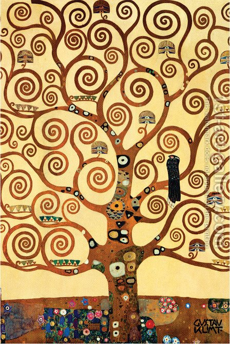 Gustav Klimt: Tree of Life - reproduction oil painting