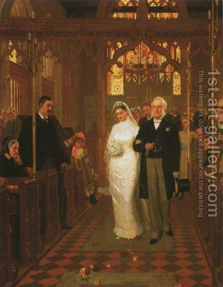 Till Death Us Do Part by Edmund Blair Blair Leighton - Reproduction Oil Painting