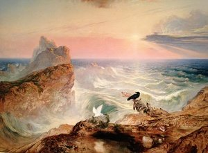 Reproduction oil paintings - John Martin - The Assuaging of the Waters