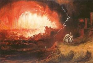 Reproduction oil paintings - John Martin - The Destruction of Sodom and Gomorrah