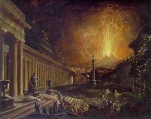 Reproduction oil paintings - John Martin - The Eruption of Vesuvius
