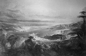 Reproduction oil paintings - John Martin - The Plains of Heaven