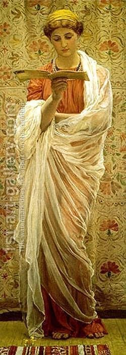 A Reader by Albert Joseph Moore - Reproduction Oil Painting