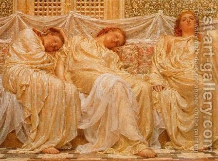 Dreamers by Albert Joseph Moore - Reproduction Oil Painting