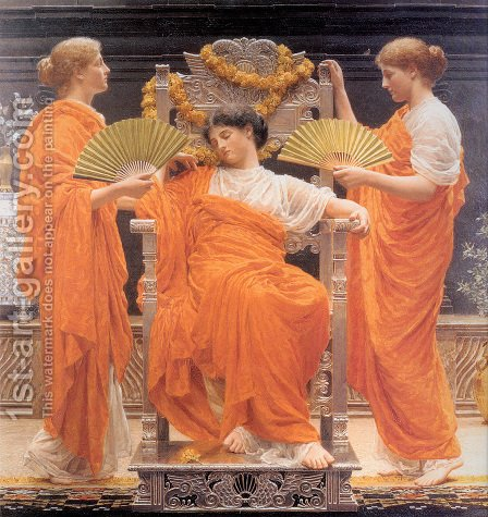 Midsummer by Albert Joseph Moore - Reproduction Oil Painting