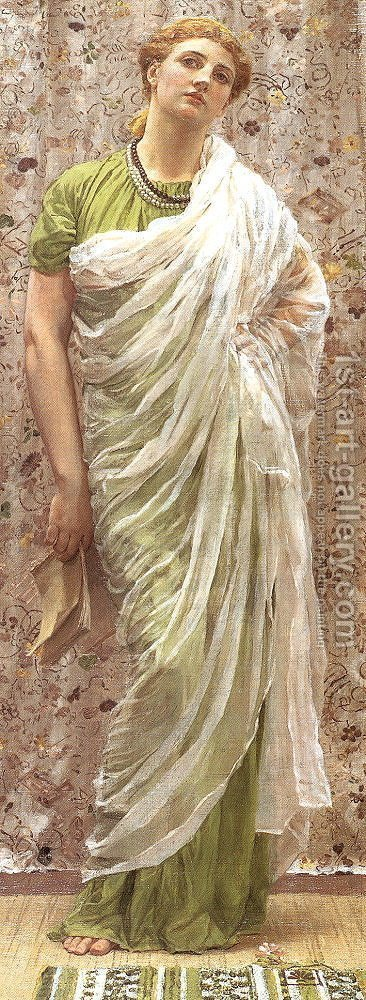 The End of the Story by Albert Joseph Moore - Reproduction Oil Painting