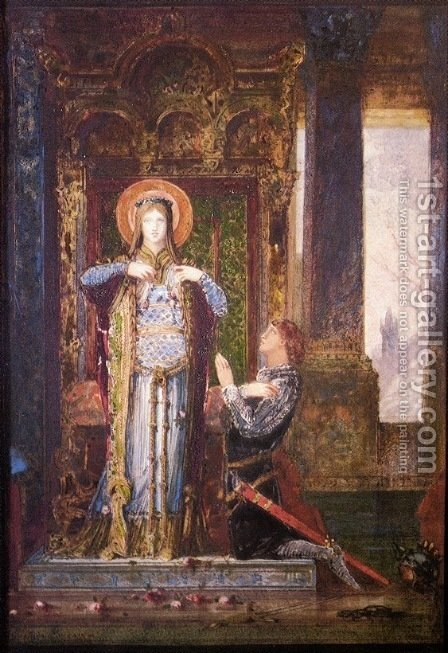 St Elizabeth of Hungary or The Miracle of the Roses by Gustave Moreau - Reproduction Oil Painting
