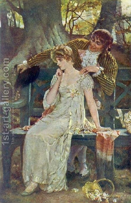 Doubts by Henrietta Rae (Mrs. Ernest Normand) - Reproduction Oil Painting