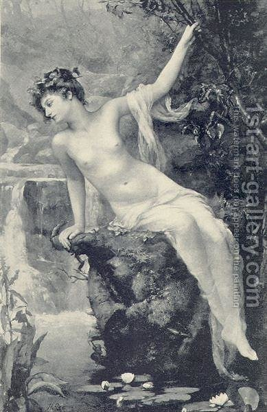 The Nymph of the Stream by Henrietta Rae (Mrs. Ernest Normand) - Reproduction Oil Painting