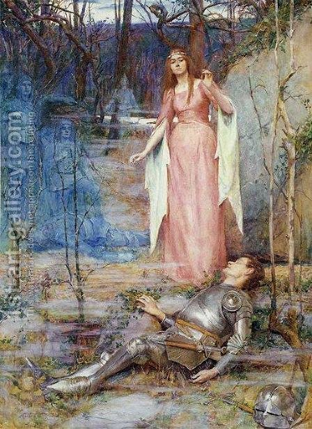 La Belle Dame Sans Merci by Henry Meynell Rheam - Reproduction Oil Painting