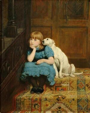 Famous paintings of Domestic Animals: Sympathy