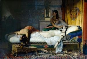 Famous paintings of Furniture: The Death of Cleopatra