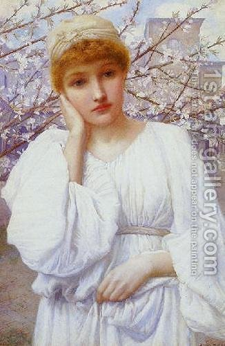 La Primavera (Spring) by Henry Ryland - Reproduction Oil Painting