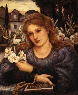 Reproduction oil paintings - Maria Euphrosyne Spartali, later Stillman - Cloister Lilies
