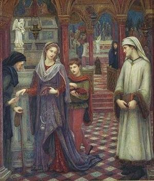 Reproduction oil paintings - Maria Euphrosyne Spartali, later Stillman - Dante and Beatrice