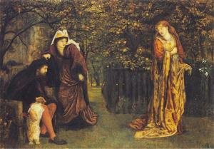 Reproduction oil paintings - Maria Euphrosyne Spartali, later Stillman - Sir Tristram and Queen Yseult