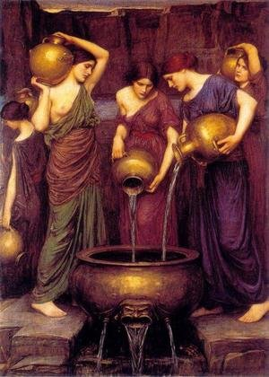 Reproduction oil paintings - Waterhouse - Danaides