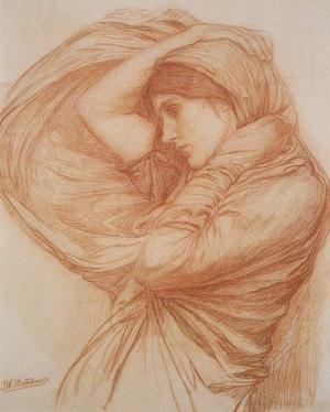 Reproduction oil paintings - Waterhouse - Study for Boreas