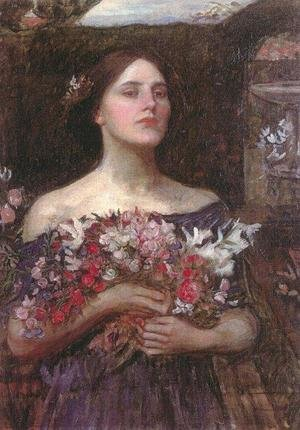 Reproduction oil paintings - Waterhouse - Study for Gather Ye Rosebuds
