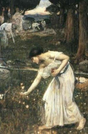 Reproduction oil paintings - Waterhouse - Study for Narcissus