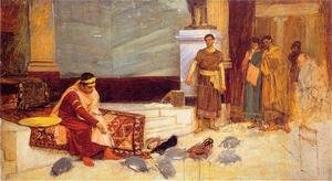 Reproduction oil paintings - Waterhouse - Study for The Favourites of the Emperor Honorius