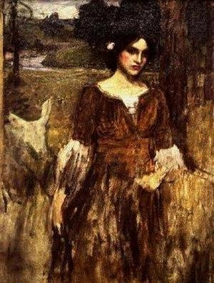 Reproduction oil paintings - Waterhouse - Study for The Lady Clare 2