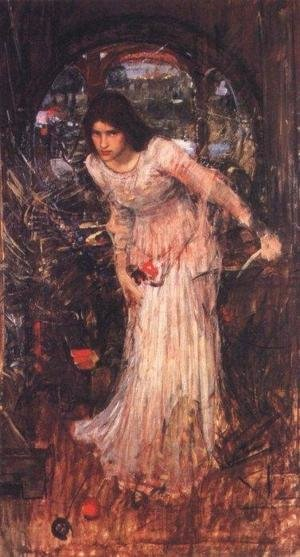 Reproduction oil paintings - Waterhouse - Study for The Lady of Shalott