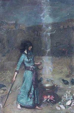 Reproduction oil paintings - Waterhouse - Study for The Magic Circle