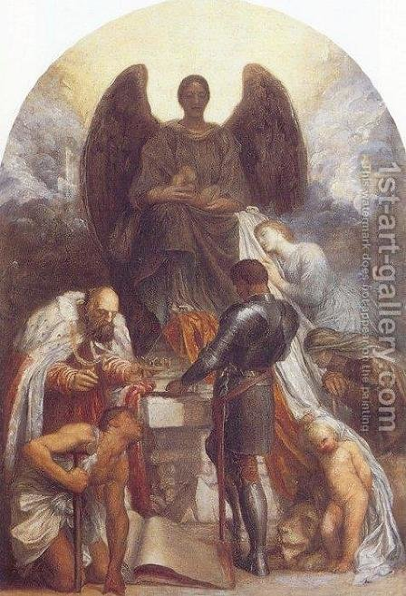The Angel of Death by George Frederick Watts - Reproduction Oil Painting
