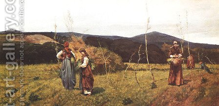 Gleaners by Giovanni Fattori - Reproduction Oil Painting