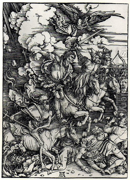 Four Horsemen of the Apocalypse by Albrecht Durer - Reproduction Oil Painting