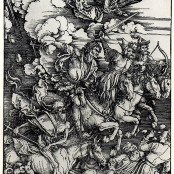 Oil painting reproductions - Horses & Horse Riding - Albrecht Durer: Four Horsemen of the Apocalypse