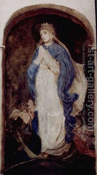 Immaculate Virgin Mary by Adam Chmielowski - Reproduction Oil Painting