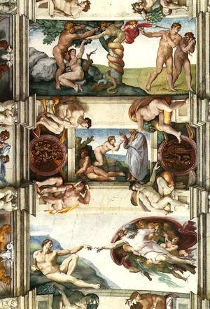 Reproduction oil paintings - Michelangelo - Scenes from Genesis