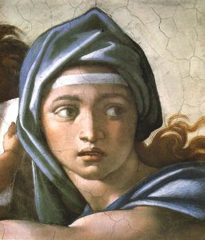 Reproduction oil paintings - Michelangelo - Delphic Sibyl