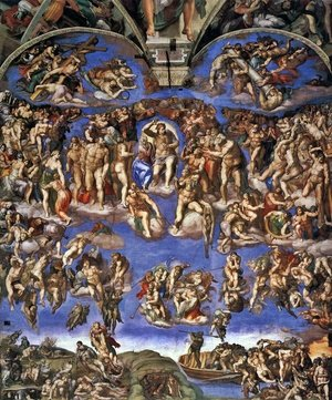 Famous paintings of Clouds & Skyscapes: Last Judgment